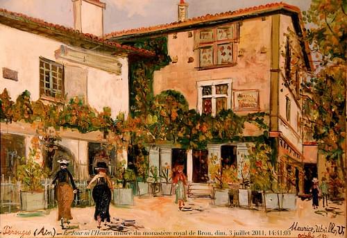 Le Jour ni l'Heure 6134 : Maurice Utrillo, 1883-1955, Pérouges, Ain, 1921, musée du monastère royal de Brou, Bourg-en-Bresse, dimanche 3 juillet 2011, 14:41:03