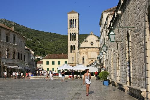 Hvar Town and the Cathedral of St. Stephen