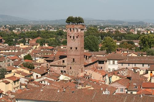 View from Torre della Ore (clock tower) - Lucca