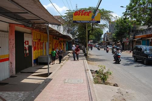 Sidewalk of Small Town