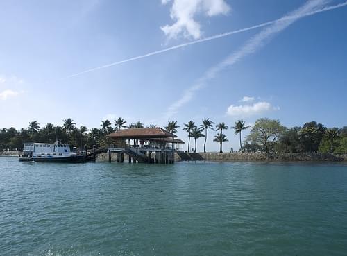 Jetty at Pulau Hantu Kecil