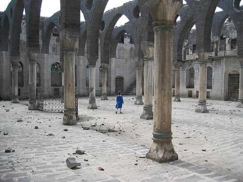 Schoolgirl in an Armenian Church