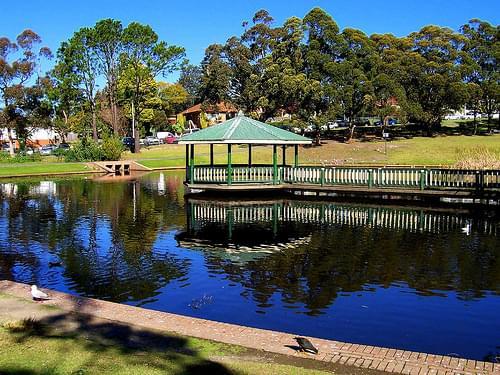 Wollongong Botanic Gardens Duckpond and Pagoda