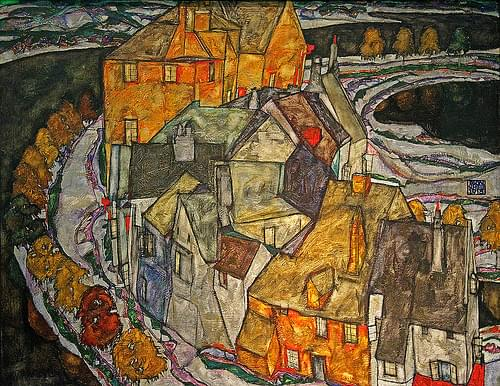 Schiele, Crescent of Houses
