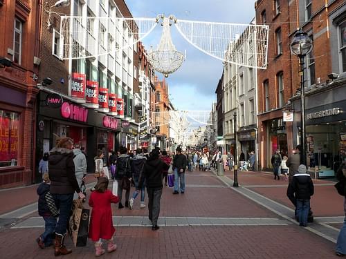Grafton Street at Christmas