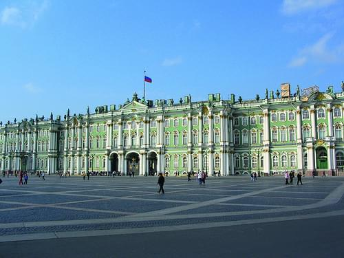 Hermitage museum outside, St Petersburg, Russia
