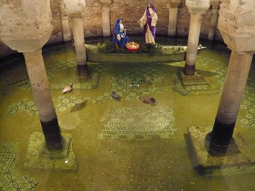 The flooded crypt of Basilica di San Francesco