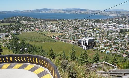 Looking Down At Rotorua