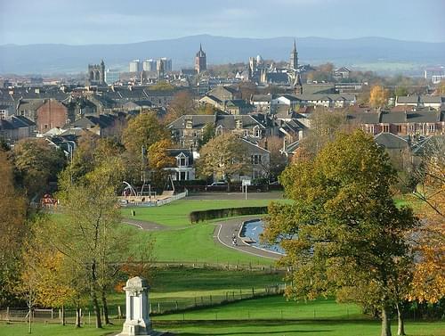 Paisley Skyline from Barshaw Park