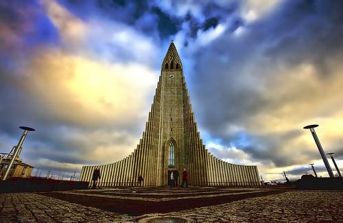 Hallgrimskirkja Reykjavik Iceland HDR