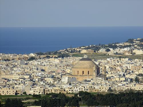 Mosta, seen from Mdina
