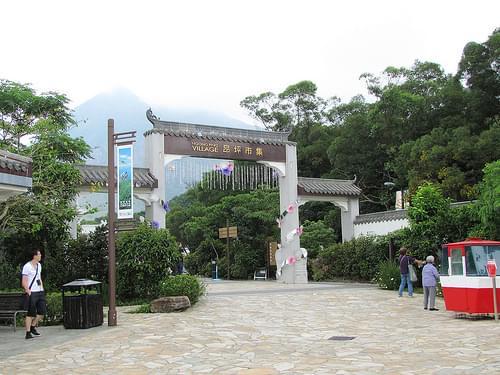 Hong Kong, Lantau Island - Ngong Ping Village