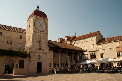 Trogir clock tower