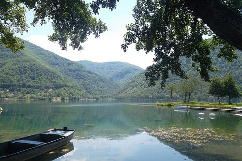 The lake at Jajce