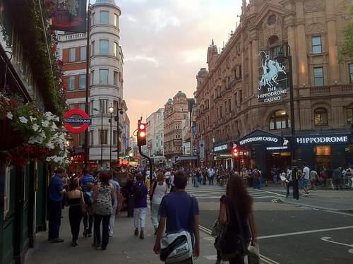Leicester Square, evening