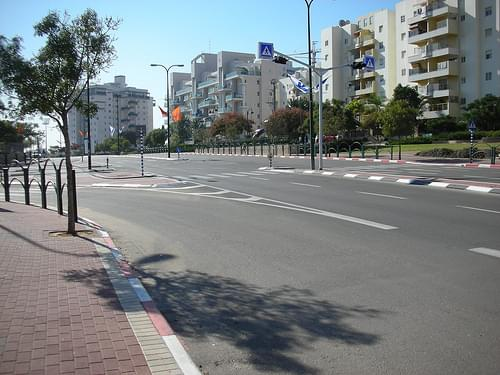 Ashkelon is built against the pedestrian