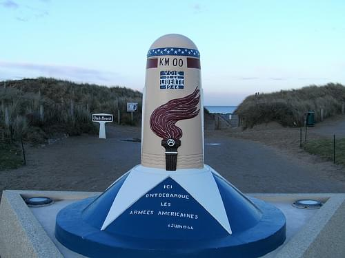 Liberty Road, Kilometre Zero - at Utah beach