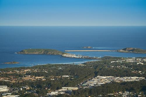 Coffs Harbour from Sealy Lookout