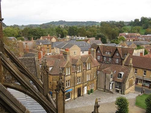 Sherborne: view from the Abbey roof (Dorset)