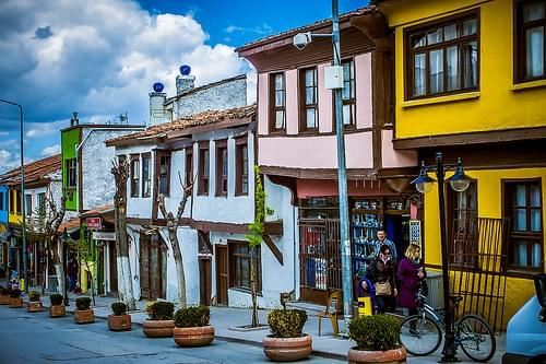 Barrio otomano. Otoman Houses. Eskisehir.