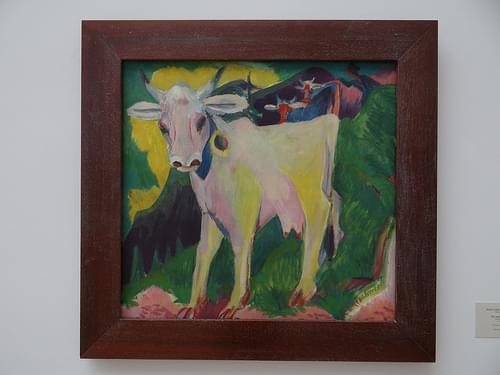 Die weiße Kuh (Ernst Ludwig Kirchner) - Hamburger Kunsthalle - Hamburg {juli 2013}