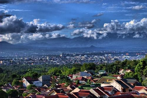 Malang city view
