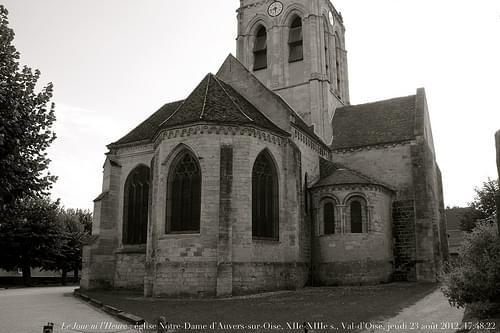 Le Jour ni l'Heure 9587 : église Notre-Dame d'Auvers-sur-Oise, XIIe-XIVe s., Val-d'Oise, Île-de-France, jeudi 23 août 2012, 17:48:22