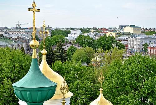 the view on Yaroslavl