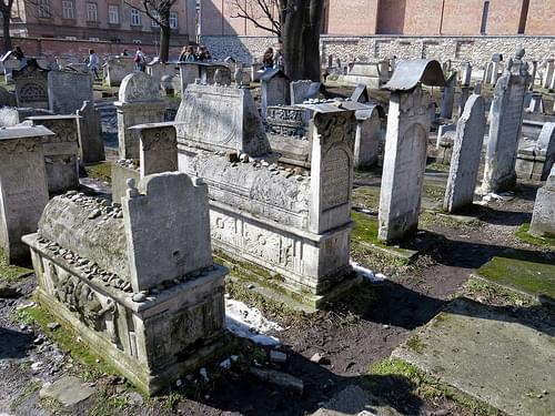 Cemetery - Remuh Synagogue - Synagoga Remu - Kazimierz district - Jewish quarter - Krakow, Poland - Cracow, Polska