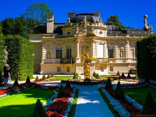 Schlosspark Linderhof, Westpaterre