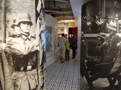 Images of Nazi Occupation with Museum Visitors - Krakow 1939-1945 Museum - In Oskar Schindler's Factory - Krakow - Poland