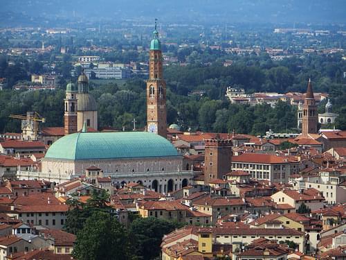 Basilique Palladienne et centre historique, Monte Berico, Vicence, province de Vicence, Vénétie, Italie.