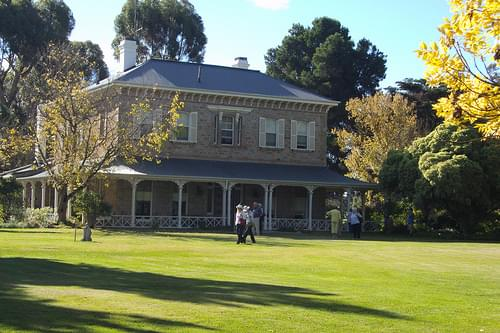 The splendid Princess Royal Homestead near the copper mining centre of Burra. Built in 1864 and designed by Edmund Wright noted Adelaide architect.