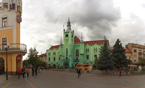Ратуша города Мукачево / Town Hall of Mukachevo