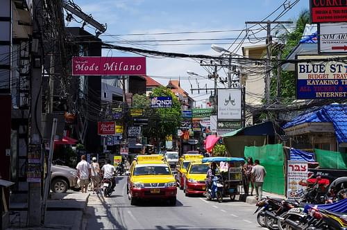Along Chaweng Beach Road, Ko Samui, Thailand
