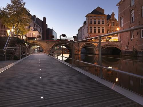 Dijlepad by night, Mechelen