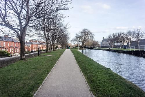 The Royal Canal Between Dorset Street And Cross Guns Bridge