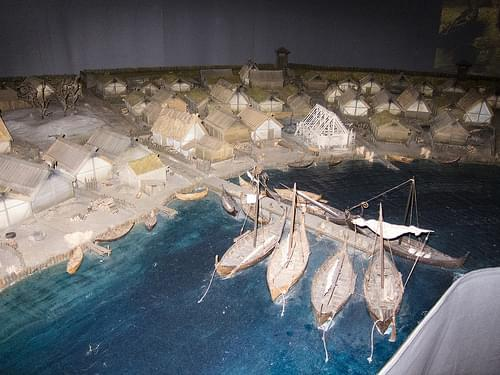 Medieval Stockholm diorama
