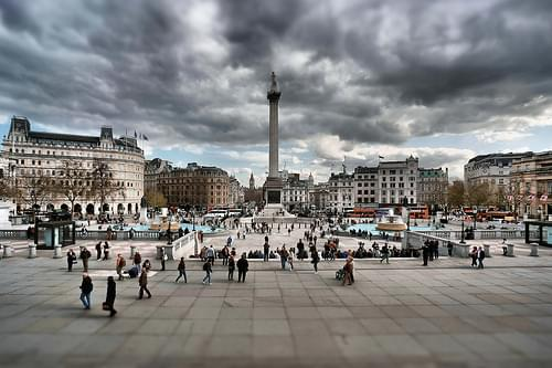 Trafalgar Square Never Dull - London
