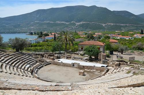 The small Theatre of Epidaurus, dated to 4th century BC, Ancient Epidaurus Village