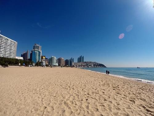 Busan beach Haeundae