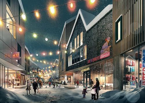 New town center, Kiruna