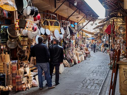 Market for wooden utensils - Gaziantep City - Turkey