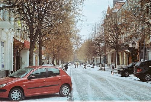 Winter in city
