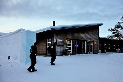 Dressing room and night entrance for the Icehotel guests