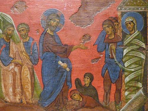 Chicago - Art Institute, Raising of Lazarus, Byzantine, 12th CE