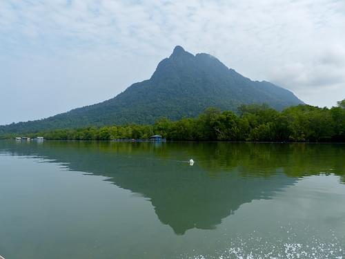 Santubong Peninsula seen from Santubong River