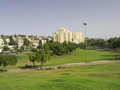 Sacher park in Jerusalem