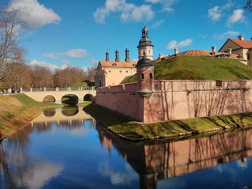 Nesvizh castle moat