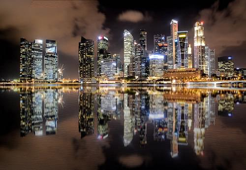 Singapore Skyline, Night